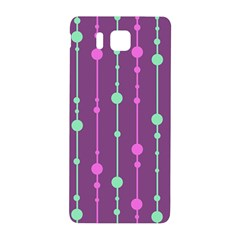 Purple And Green Pattern Samsung Galaxy Alpha Hardshell Back Case by Valentinaart