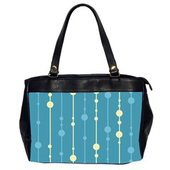 Blue Pattern Office Handbags (2 Sides)  by Valentinaart