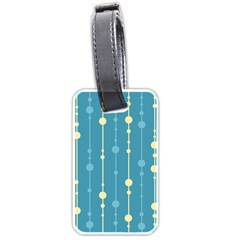 Blue Pattern Luggage Tags (one Side)  by Valentinaart