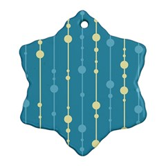 Blue Pattern Snowflake Ornament (2 Side) by Valentinaart