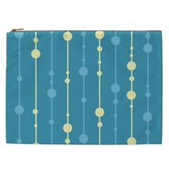 Blue Pattern Cosmetic Bag (xxl)  by Valentinaart