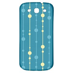 Blue Pattern Samsung Galaxy S3 S Iii Classic Hardshell Back Case by Valentinaart