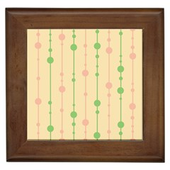 Pastel Pattern Framed Tiles by Valentinaart