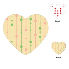 Pastel Pattern Playing Cards (heart)  by Valentinaart