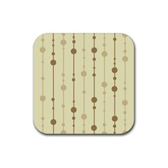 Brown Pattern Rubber Square Coaster (4 Pack)  by Valentinaart
