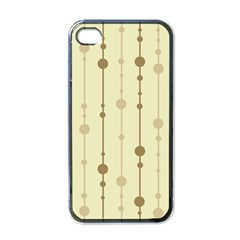 Brown Pattern Apple Iphone 4 Case (black) by Valentinaart