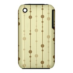 Brown Pattern Apple Iphone 3g/3gs Hardshell Case (pc+silicone) by Valentinaart