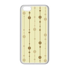 Brown Pattern Apple Iphone 5c Seamless Case (white) by Valentinaart