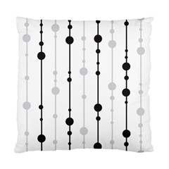 Black And White Elegant Pattern Standard Cushion Case (one Side) by Valentinaart