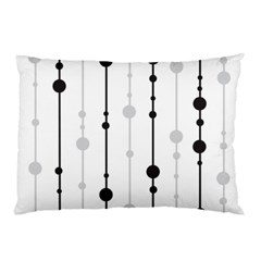 Black And White Elegant Pattern Pillow Case by Valentinaart