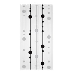 Black And White Elegant Pattern Shower Curtain 36  X 72  (stall)  by Valentinaart