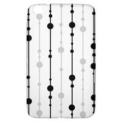 Black And White Elegant Pattern Samsung Galaxy Tab 3 (8 ) T3100 Hardshell Case  by Valentinaart