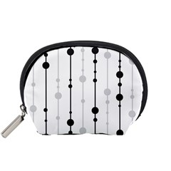 Black And White Elegant Pattern Accessory Pouches (small)  by Valentinaart