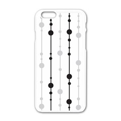 Black And White Elegant Pattern Apple Iphone 6/6s White Enamel Case by Valentinaart