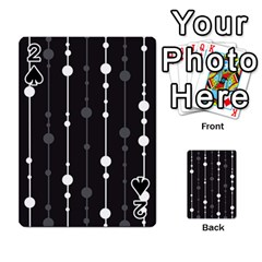 Black And White Pattern Playing Cards 54 Designs  by Valentinaart