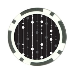 Black And White Pattern Poker Chip Card Guards by Valentinaart