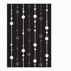Black And White Pattern Small Garden Flag (two Sides) by Valentinaart