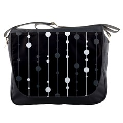 Black And White Pattern Messenger Bags by Valentinaart