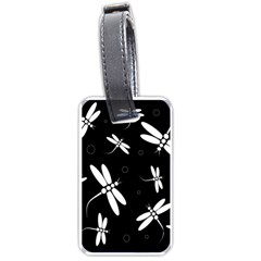 Dragonflies Pattern Luggage Tags (one Side)  by Valentinaart