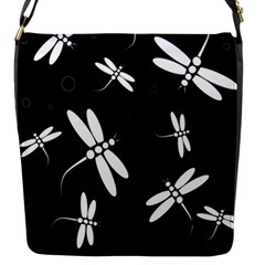 Dragonflies Pattern Flap Messenger Bag (s)
