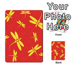 Red And Yellow Dragonflies Pattern Multi Purpose Cards (rectangle)  by Valentinaart