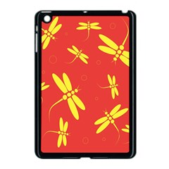 Red And Yellow Dragonflies Pattern Apple Ipad Mini Case (black) by Valentinaart