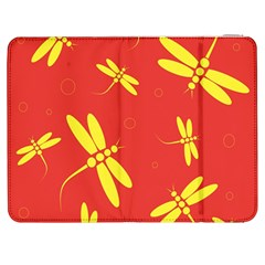 Red And Yellow Dragonflies Pattern Samsung Galaxy Tab 7  P1000 Flip Case by Valentinaart