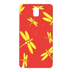 Red And Yellow Dragonflies Pattern Samsung Galaxy Note 3 N9005 Hardshell Back Case by Valentinaart
