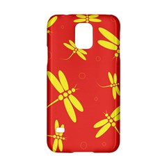 Red And Yellow Dragonflies Pattern Samsung Galaxy S5 Hardshell Case