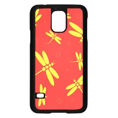 Red And Yellow Dragonflies Pattern Samsung Galaxy S5 Case (black) by Valentinaart