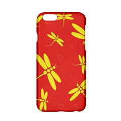 Red And Yellow Dragonflies Pattern Apple Iphone 6/6s Hardshell Case by Valentinaart