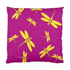 Purple And Yellow Dragonflies Pattern Standard Cushion Case (one Side) by Valentinaart