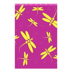 Purple And Yellow Dragonflies Pattern Shower Curtain 48  X 72  (small)  by Valentinaart