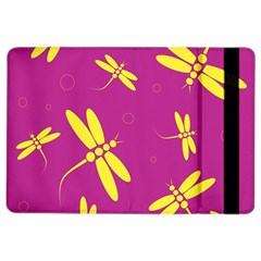 Purple And Yellow Dragonflies Pattern Ipad Air 2 Flip by Valentinaart