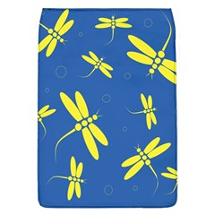 Blue And Yellow Dragonflies Pattern Flap Covers (l)  by Valentinaart