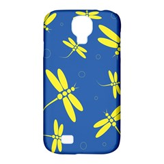 Blue And Yellow Dragonflies Pattern Samsung Galaxy S4 Classic Hardshell Case (pc+silicone) by Valentinaart