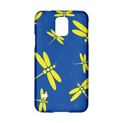 Blue And Yellow Dragonflies Pattern Samsung Galaxy S5 Hardshell Case  by Valentinaart
