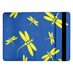 Blue And Yellow Dragonflies Pattern Samsung Galaxy Tab Pro 12 2  Flip Case by Valentinaart