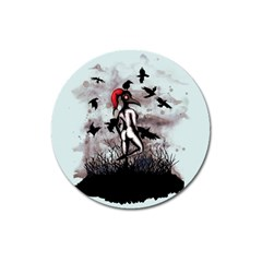 Dancing With Crows Magnet 3  (round) by lvbart