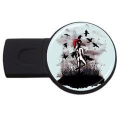 Dancing With Crows Usb Flash Drive Round (2 Gb)  by lvbart