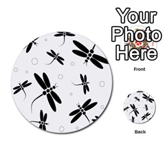 Black And White Dragonflies Multi Purpose Cards (round)  by Valentinaart
