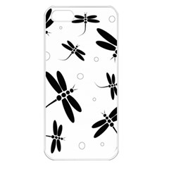 Black And White Dragonflies Apple Iphone 5 Seamless Case (white) by Valentinaart