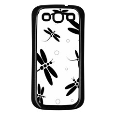 Black And White Dragonflies Samsung Galaxy S3 Back Case (black) by Valentinaart