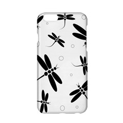 Black And White Dragonflies Apple Iphone 6/6s Hardshell Case by Valentinaart