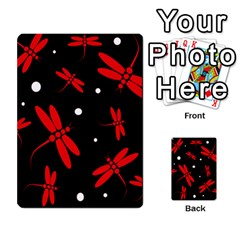 Red, Black And White Dragonflies Multi-purpose Cards (rectangle)