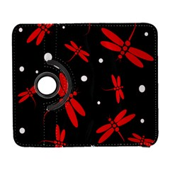 Red, Black And White Dragonflies Samsung Galaxy S  Iii Flip 360 Case by Valentinaart