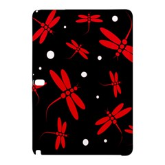 Red, Black And White Dragonflies Samsung Galaxy Tab Pro 10 1 Hardshell Case by Valentinaart