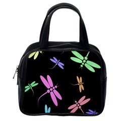 Pastel Dragonflies Classic Handbags (one Side) by Valentinaart