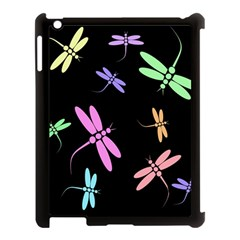 Pastel Dragonflies Apple Ipad 3/4 Case (black) by Valentinaart