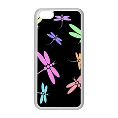 Pastel Dragonflies Apple Iphone 5c Seamless Case (white) by Valentinaart
